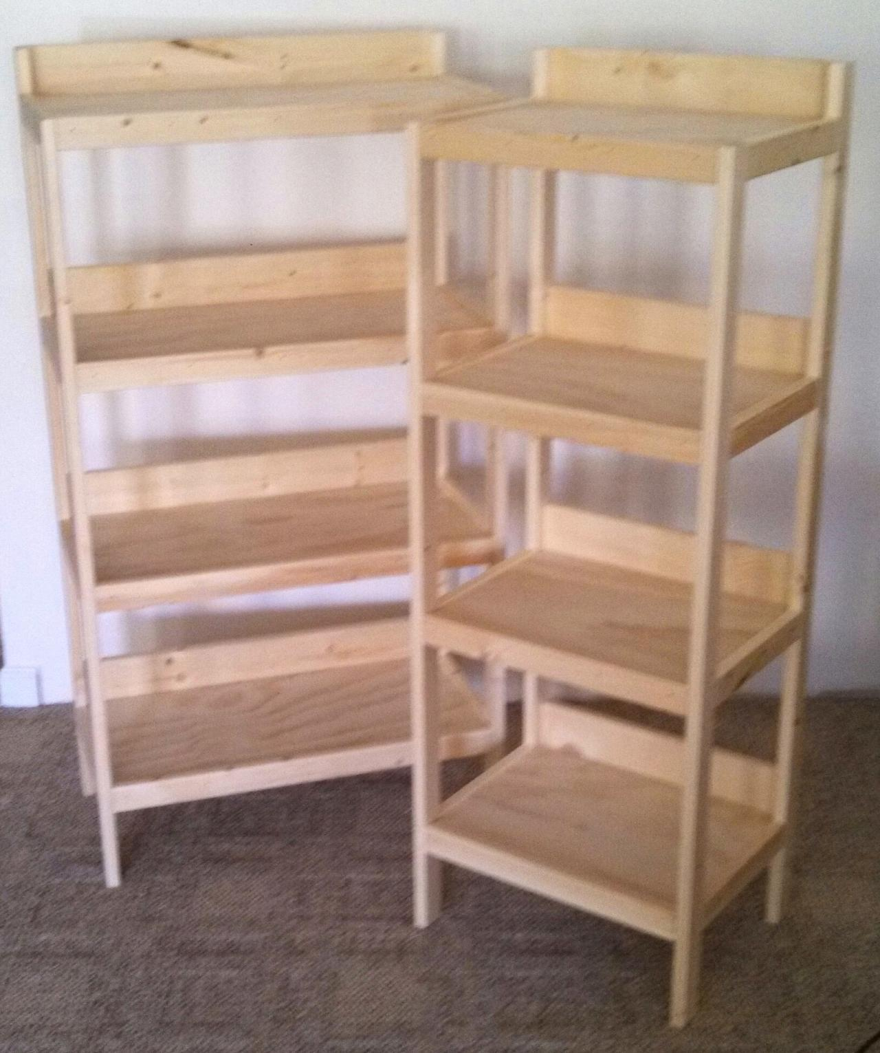 Rustic wood retail store product display fixtures for How to make display shelves