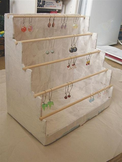 Wood Retail Earring Jewelry Bracelet Dowel Display Merchandising